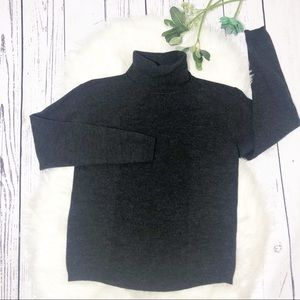 Pendleton black ribbed turtleneck wool sweater SM